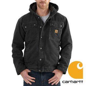 Carhartt Bartlett Jacket, Sherpa Lined, Black 3XL